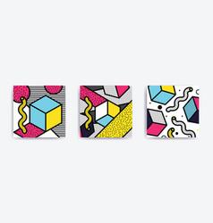 colorful pop art set vector image