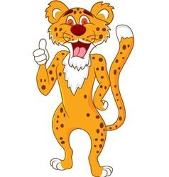 cute cheetah with thumb up vector image vector image