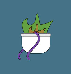 Flat icon design collection military cauldron pot vector