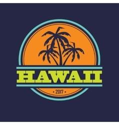 Hawaii 2017 label vector image