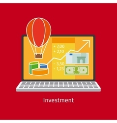 Investment cartoon style vector image