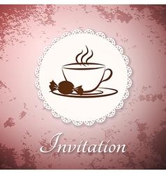 Invitation applique card background vector image