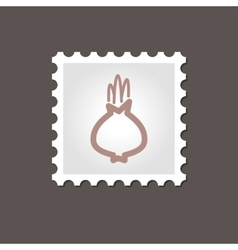 Onion stamp outline vector
