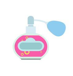 perfume bottle spray glass set isolated beauty vector image vector image