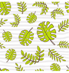 seamless summer pattern bright cute cartoon style vector image