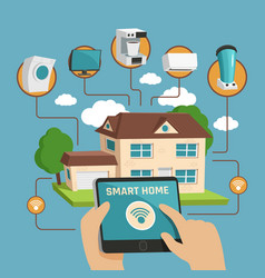 smart home design concept vector image