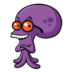Smiling Octopus Cartoon vector image vector image