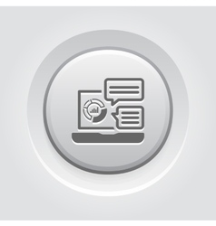 Store analytics icon grey button design vector