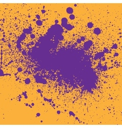 Two color ink blots vector image