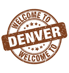 Welcome to denver vector