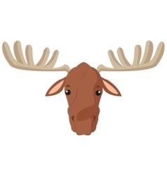 single moose icon vector image