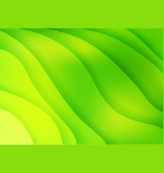 Bright green waves abstract background vector