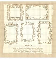 Ornamental frames on vintage background vector image