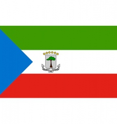 Equatorial guinea flag vector
