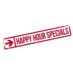 Happy hour specials stamp vector