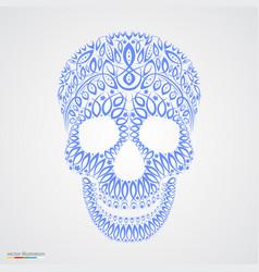 ornamental pattern skull in tattoo style vector image