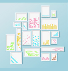 Different pictire frames with simple colorful vector