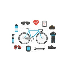 212bicycle isolated vector image vector image