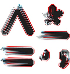 Abstract font symbol vector