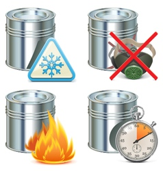 Paint properties icons vector