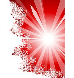 Sunny chrisrmas background vector