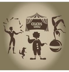 Background of the poster of circus in design vector