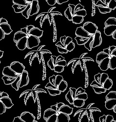 Seamless pattern background tropical summer vector image