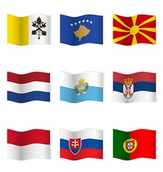 Waving flags of different countries 7 vector