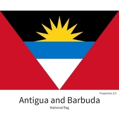 National flag of antigua and barbuda with correct vector