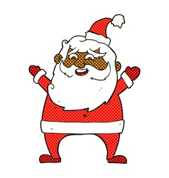 Jolly santa comic cartoon vector