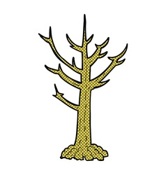Comic cartoon naked tree vector