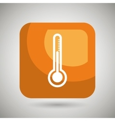 Thermometer square button isolated icon design vector