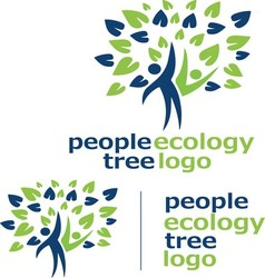 People ecology tree logo 10 vector