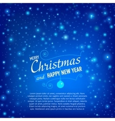 Christmas and happy new year card with snowfall vector