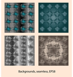 Abstract patterns background seamless vector image vector image