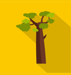 Baobab icon flat style vector