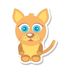 Cat mascot cartoon isolated icon vector