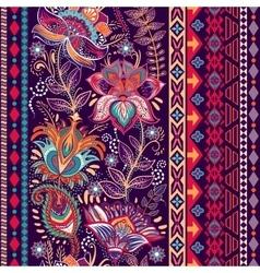 Colorful border floral decorative pattern vector