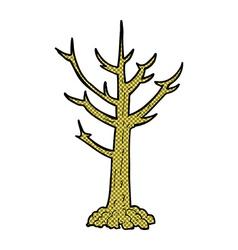 Comic cartoon naked tree vector