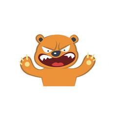 cute bear furious vector image