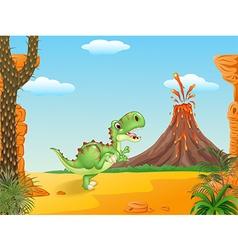 Cute tyrannosaurus running vector image vector image