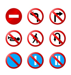 European road signs with details vector
