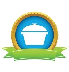 Gold pan logo vector