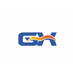 GX letter logo vector image vector image