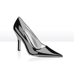 high heel black woman shoe vector image vector image