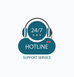 hotline support icon vector image vector image