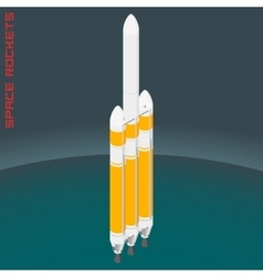 Isometric american space heavy rocket vector image vector image