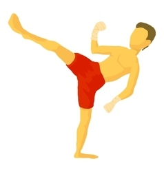 Karate icon cartoon style vector