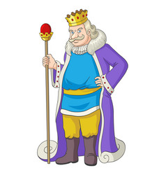 old king holding a scepter vector image