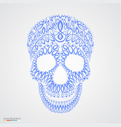 Ornamental pattern skull in tattoo style vector